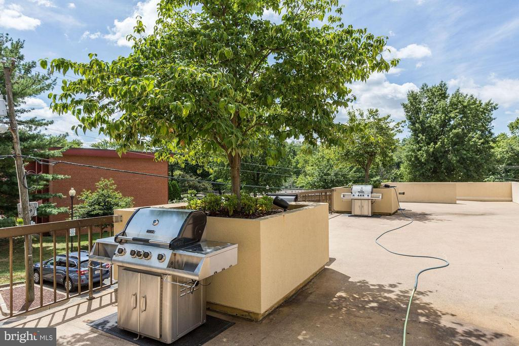 Condo Community Grilling Area and Patio - 4500 FOUR MILE RUN DR S #334, ARLINGTON