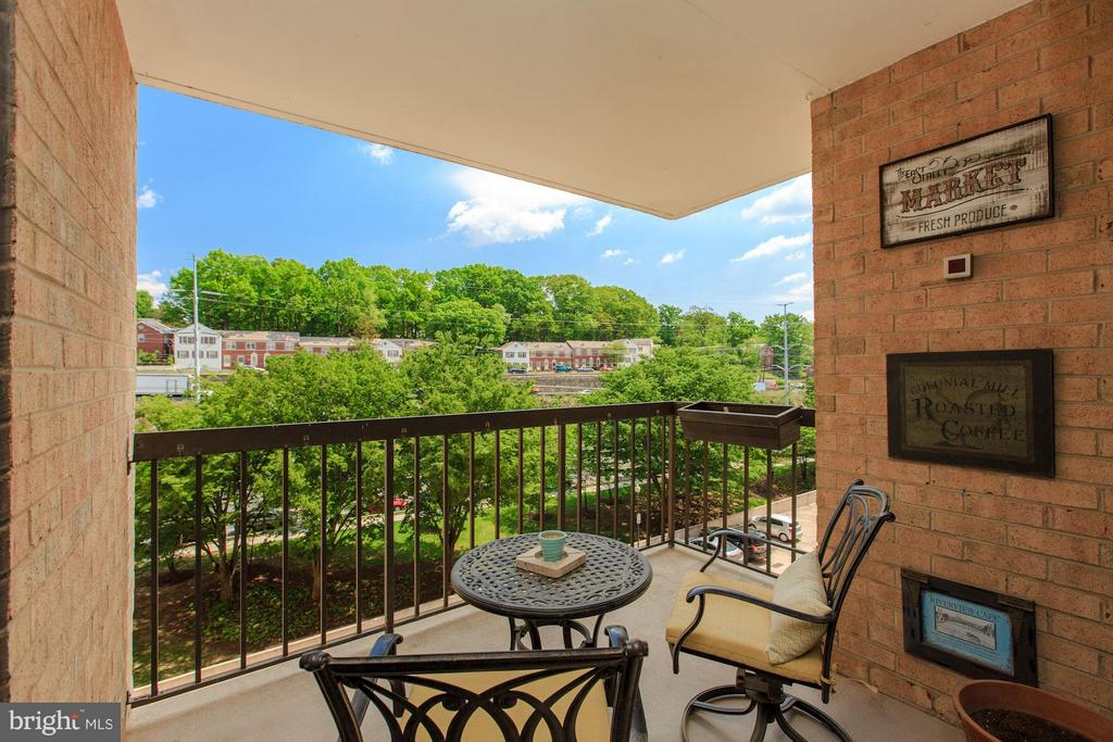 Deep and Generous Balcony with View of Trees - 4500 FOUR MILE RUN DR S #334, ARLINGTON