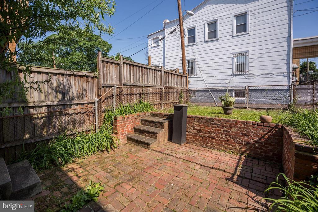 Back Yard with Brick Patio - 334 CHANNING ST NE, WASHINGTON
