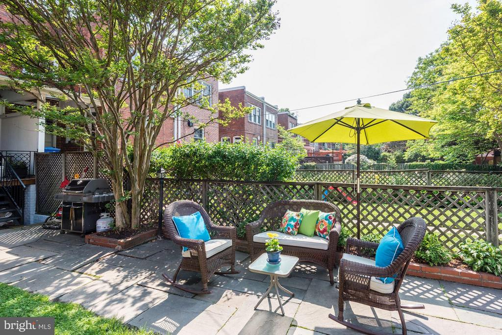 Plenty of room for grill and entertaining - 3823 CALVERT ST NW, WASHINGTON