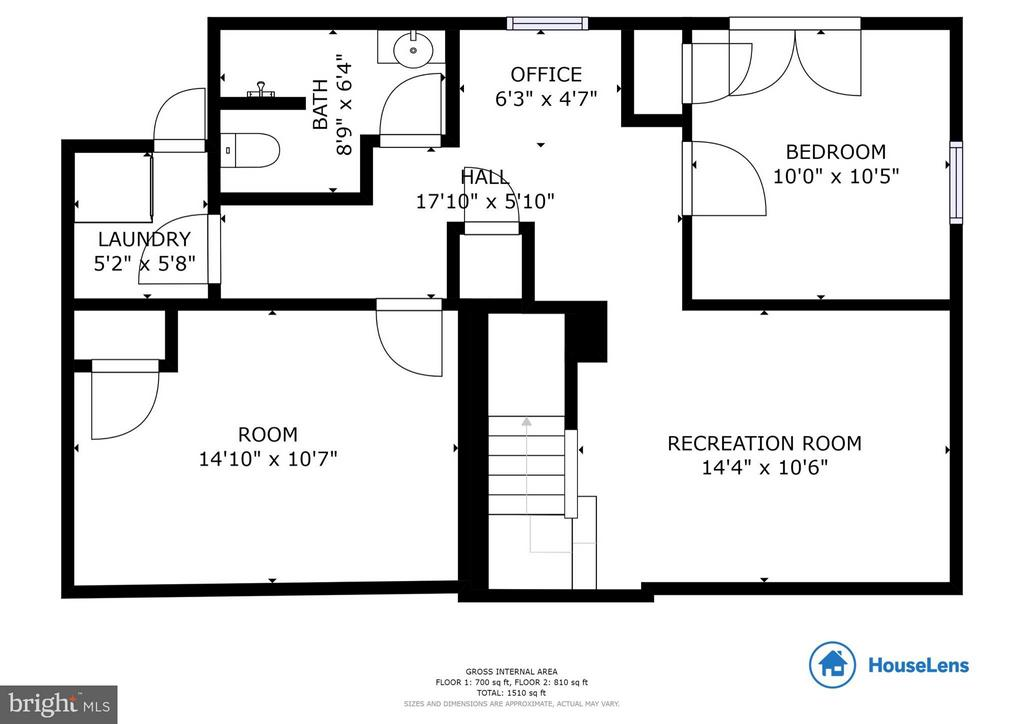 Lower Level Floor Plan - 568 ROCKBRIDGE DR SE, LEESBURG