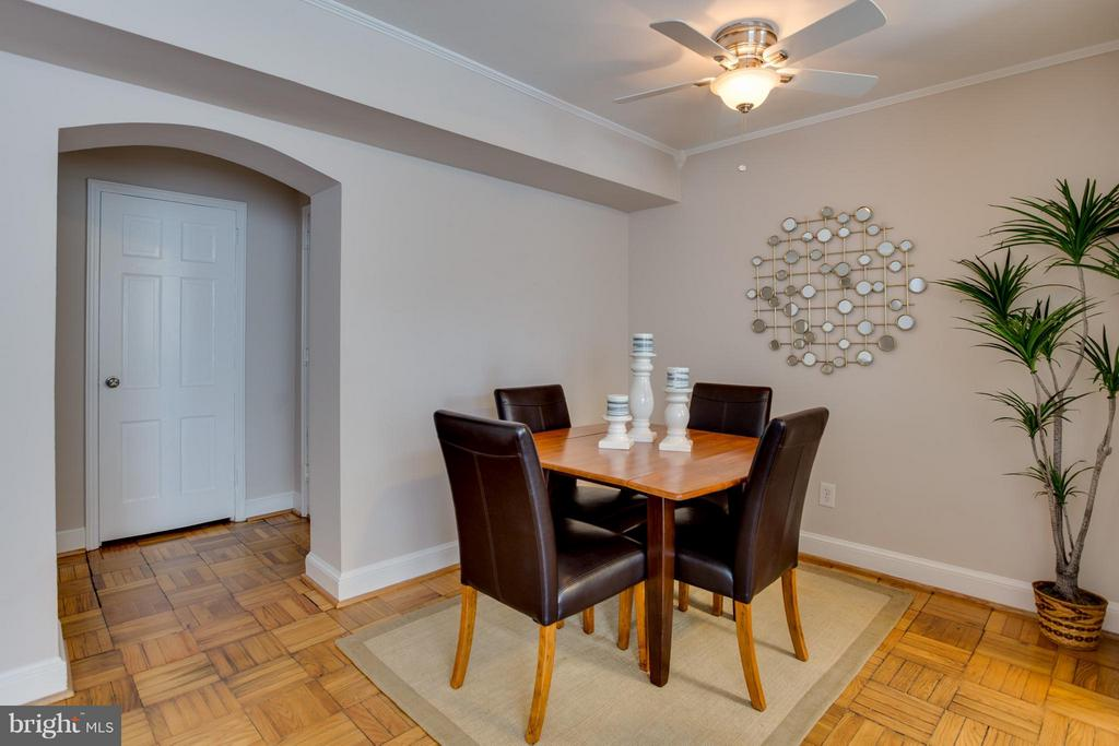 Dining Room, arched dorway - 22 OLD GLEBE RD #5-D, ARLINGTON