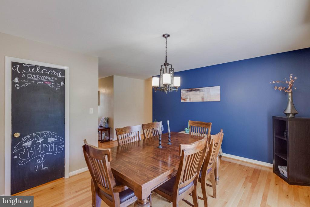 Dining Room open to kitchen w HUGE pantry - 5719 MOUNT PHILLIP RD, FREDERICK