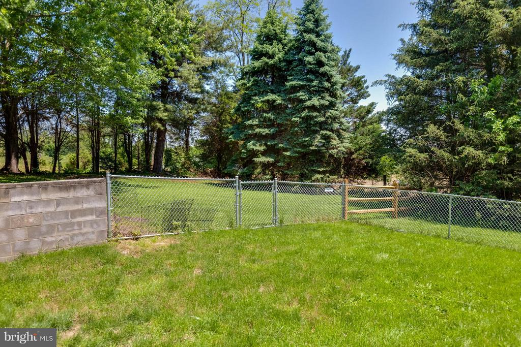 Walk out in lower level to fenced dog run - 5719 MOUNT PHILLIP RD, FREDERICK
