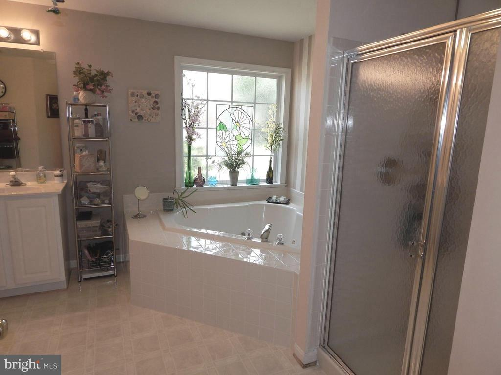 Luxury Master Bath w/Separate Shower, Jetted Tub - 6017 WATERMAN DR, FREDERICKSBURG