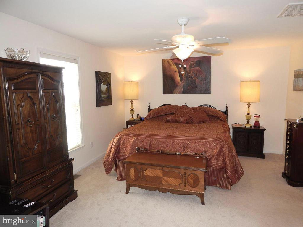 King bed-sized Master BR has 2 Walk-in Closets - 6017 WATERMAN DR, FREDERICKSBURG