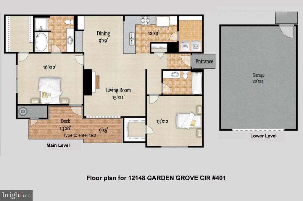 Foor Plan - 12148 GARDEN GROVE CIR #401, FAIRFAX