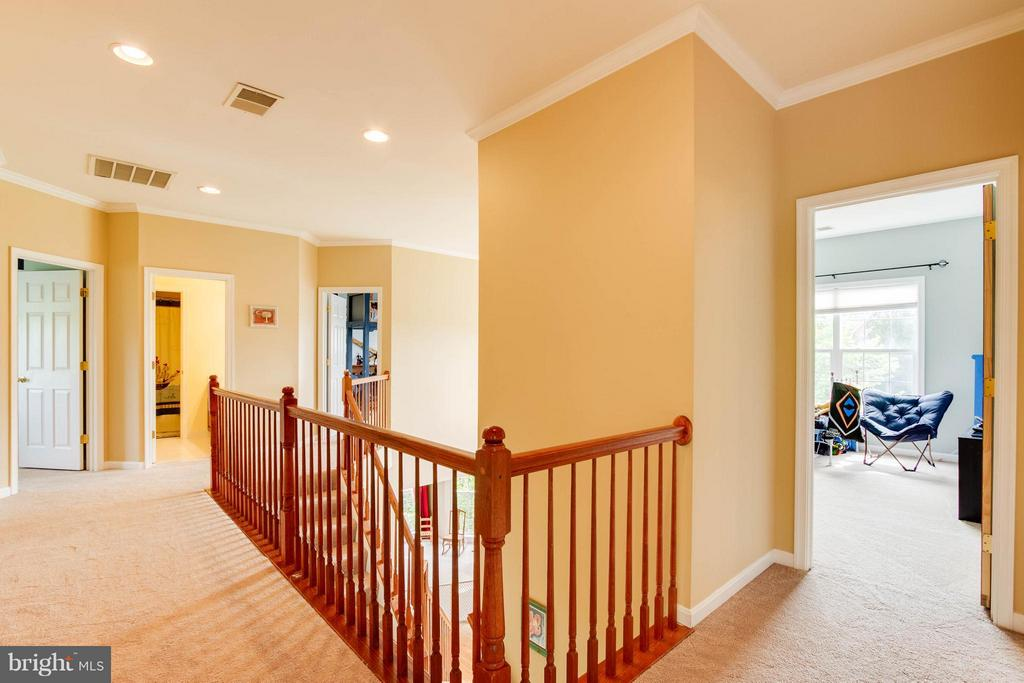 Upper hall - 24971 BELCOURT CASTLE DR, CHANTILLY