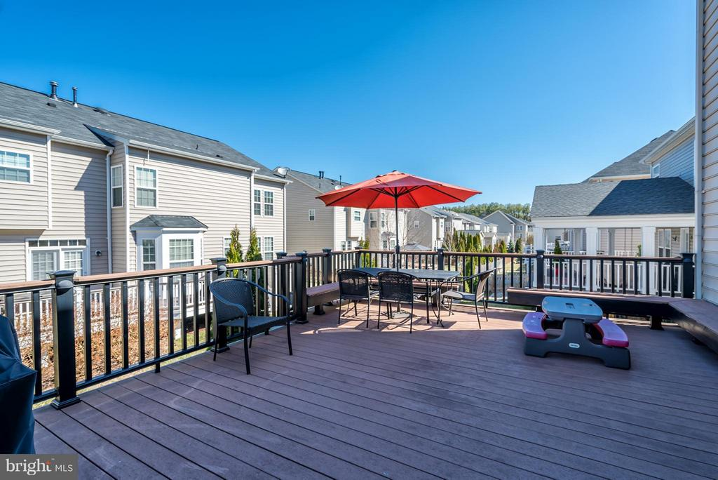 Large Composite Deck leading to Fenced Yard - 42960 THORNBLADE CIR, BROADLANDS