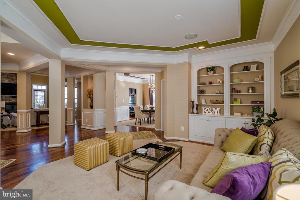 Living Room with Built-in Shelving - 42960 THORNBLADE CIR, BROADLANDS