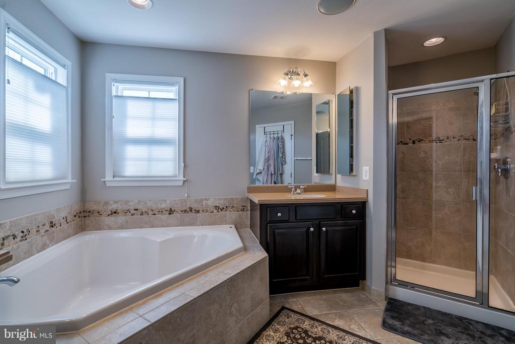 Master Bathroom with Separate Vanities and Shower - 42960 THORNBLADE CIR, BROADLANDS