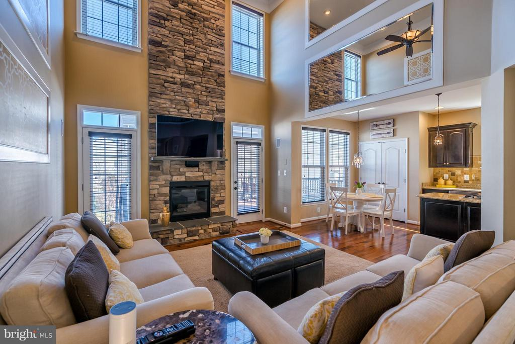 2 Story Family Room with Gas Fireplace - 42960 THORNBLADE CIR, BROADLANDS