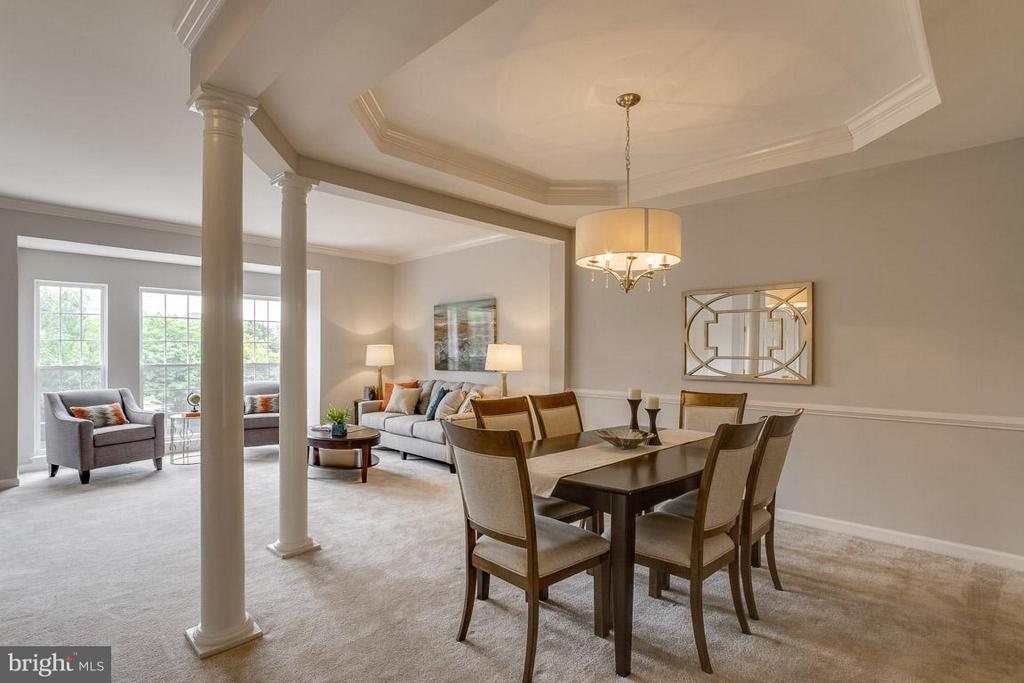 Dining room / living room - 22060 CHELSY PAIGE SQ, ASHBURN