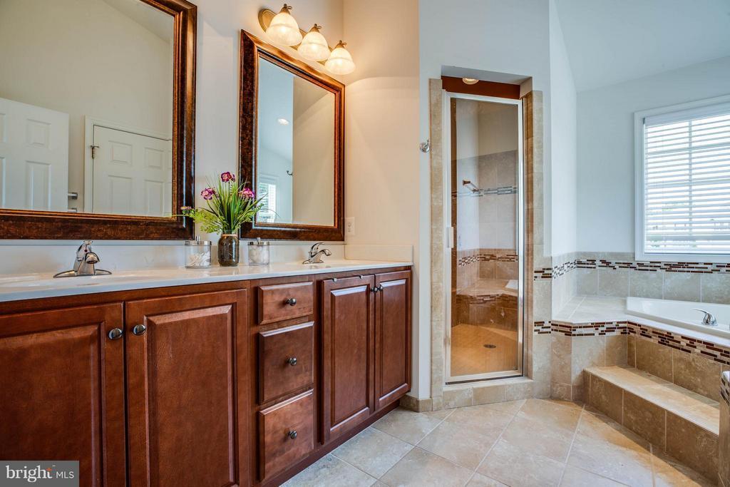Double Vanities, Walk in Shower, Soaking Tub - 4 WIZARD CT, STAFFORD