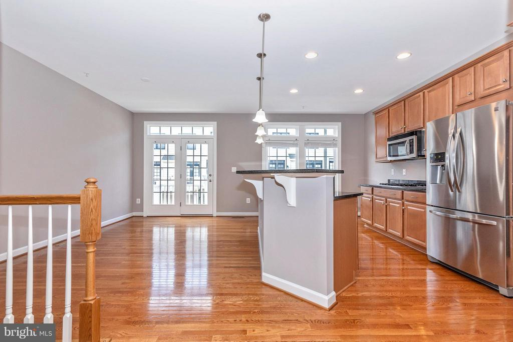 View of Kitchen and Dining Room - 8937 AMELUNG ST, FREDERICK