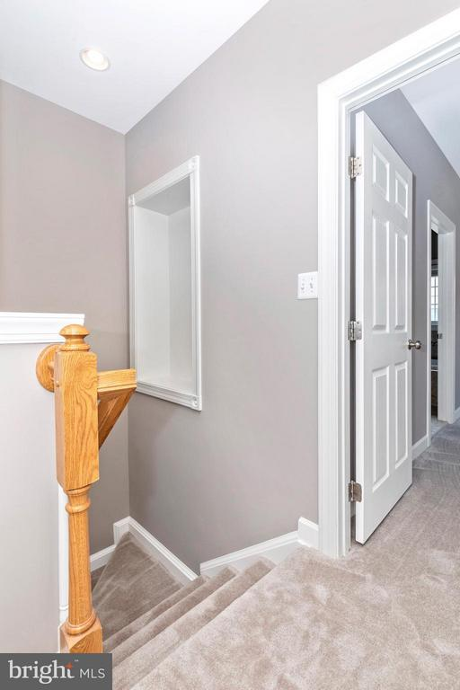 Stair Landing on 2nd Floor from Living Room - 8937 AMELUNG ST, FREDERICK