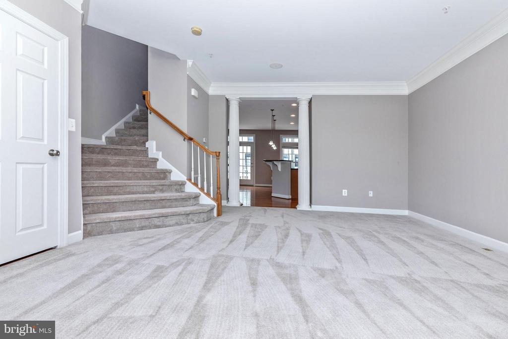 View of Living Room to stairs to 2nd Floor - 8937 AMELUNG ST, FREDERICK