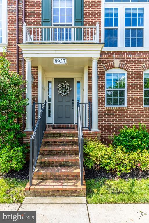 Brick Staircase to Front Door - 8937 AMELUNG ST, FREDERICK