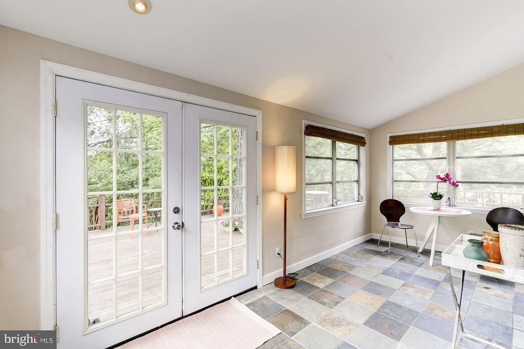 French doors open to expansive deck - 3403 CHEVERLY AVE, CHEVERLY