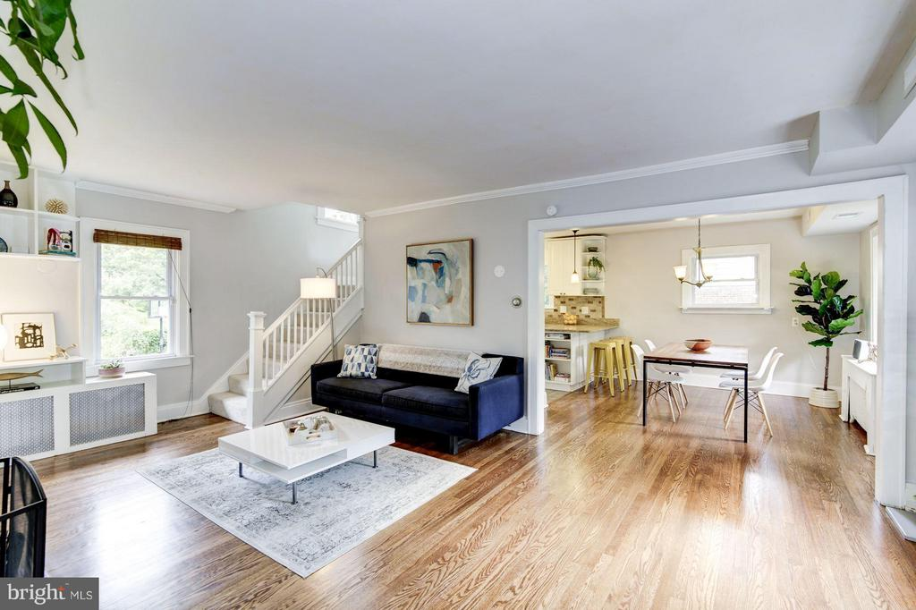 Beautiful hardwood floors in LR & DR - 3403 CHEVERLY AVE, CHEVERLY