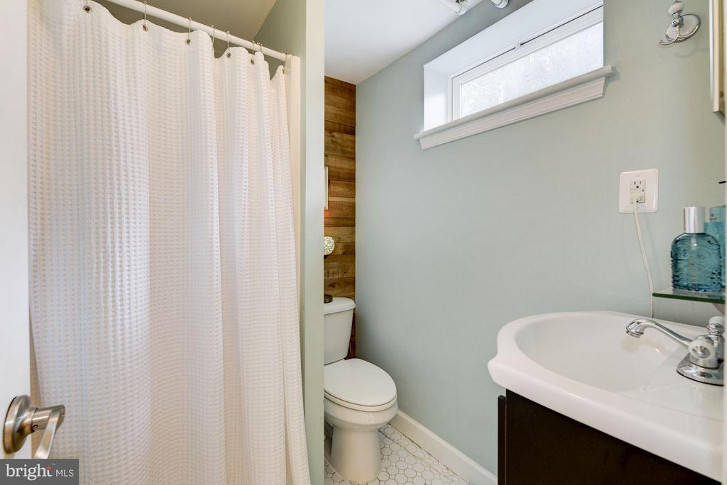 Lower level bath with shower - 3403 CHEVERLY AVE, CHEVERLY