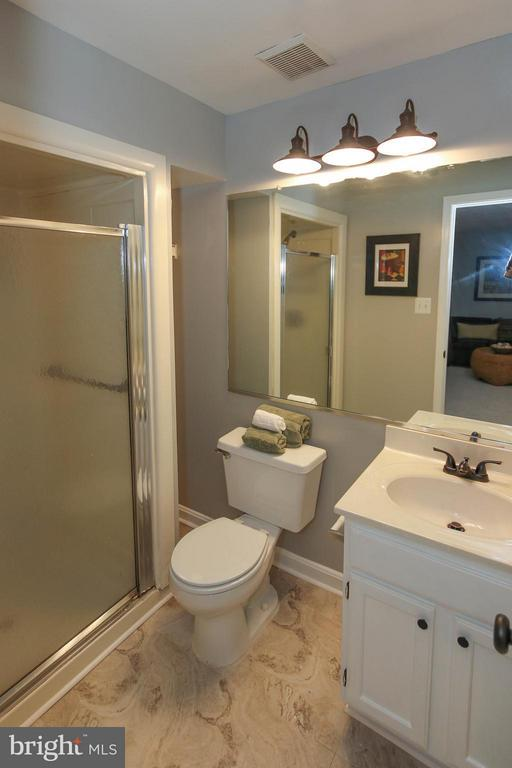 Full bath in basement - 43201 RIBBONCREST TER, ASHBURN