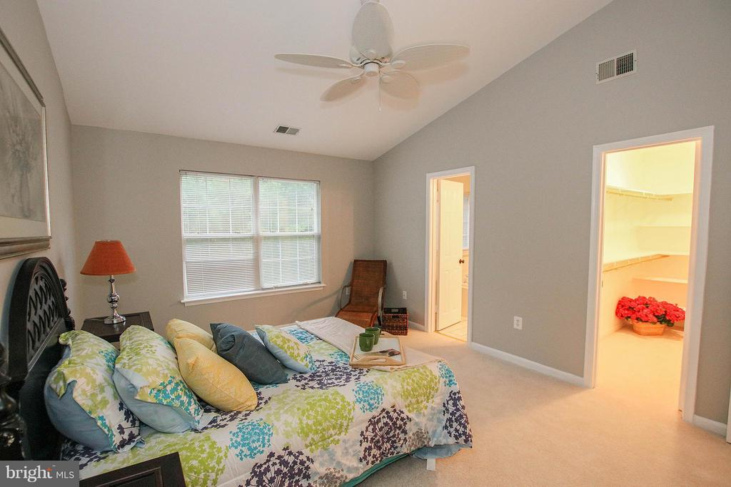 Lovely master suite with vaulted ceiling - 43201 RIBBONCREST TER, ASHBURN
