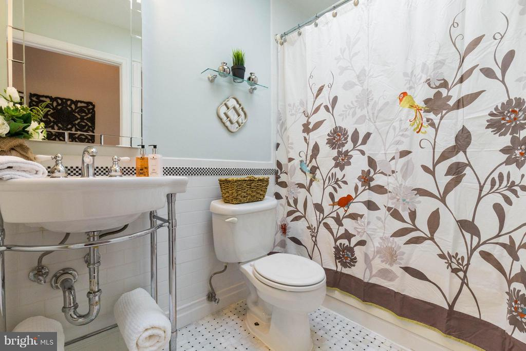 Master bath with skylight - 223 FLORIDA AVE NW #4, WASHINGTON