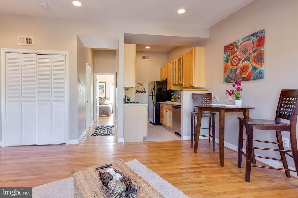Open living space - 223 FLORIDA AVE NW #4, WASHINGTON