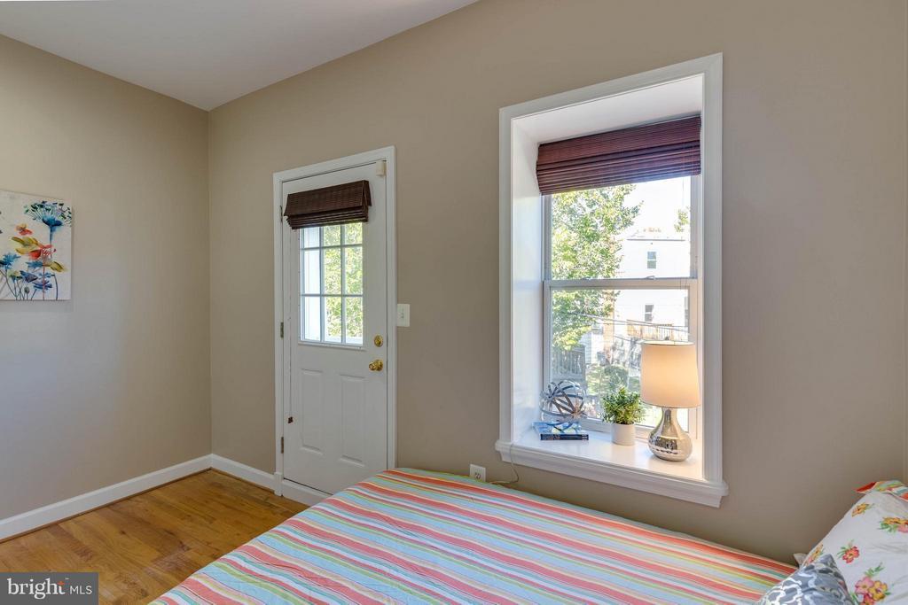 2nd bedroom with Juliet balcony - 223 FLORIDA AVE NW #4, WASHINGTON