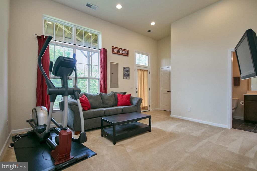 Walkout lower level features 12 foot ceilings - 9052 ISABEL LN, MANASSAS PARK