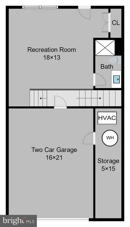 Lower level floor plan - 9052 ISABEL LN, MANASSAS PARK
