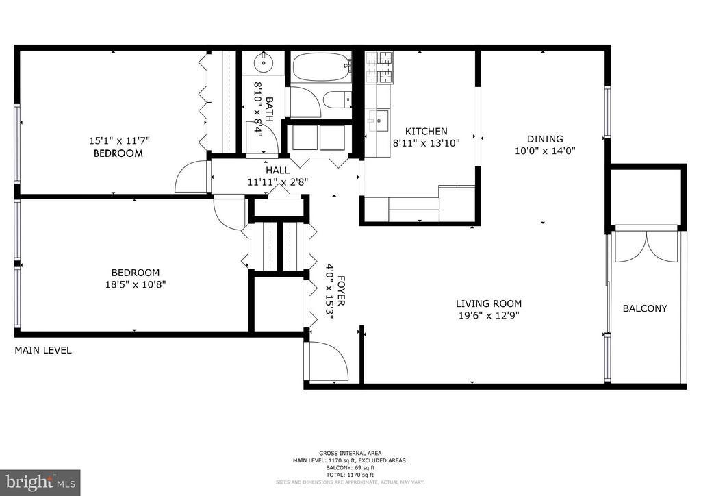 Floor plan - 1675 PARKCREST CIR #400, RESTON