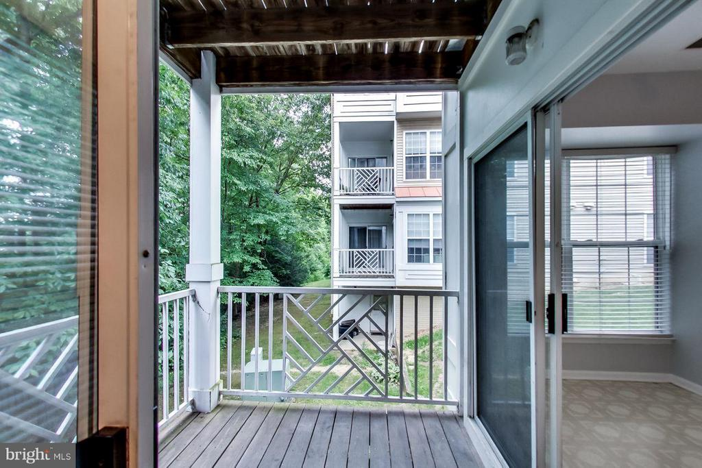 Rear porch accessed from dining room and kitchen - 5940 FOUNDERS HILL DR #103, ALEXANDRIA