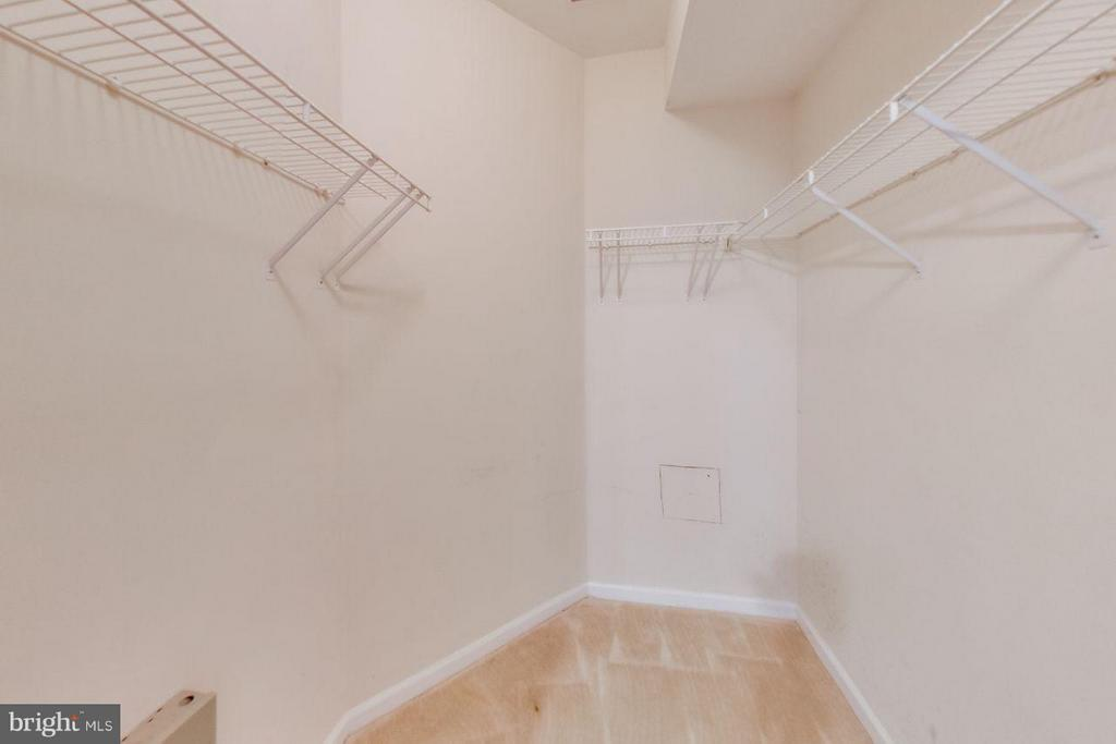 Spacious walk-in closet in master bedroom - 5940 FOUNDERS HILL DR #103, ALEXANDRIA