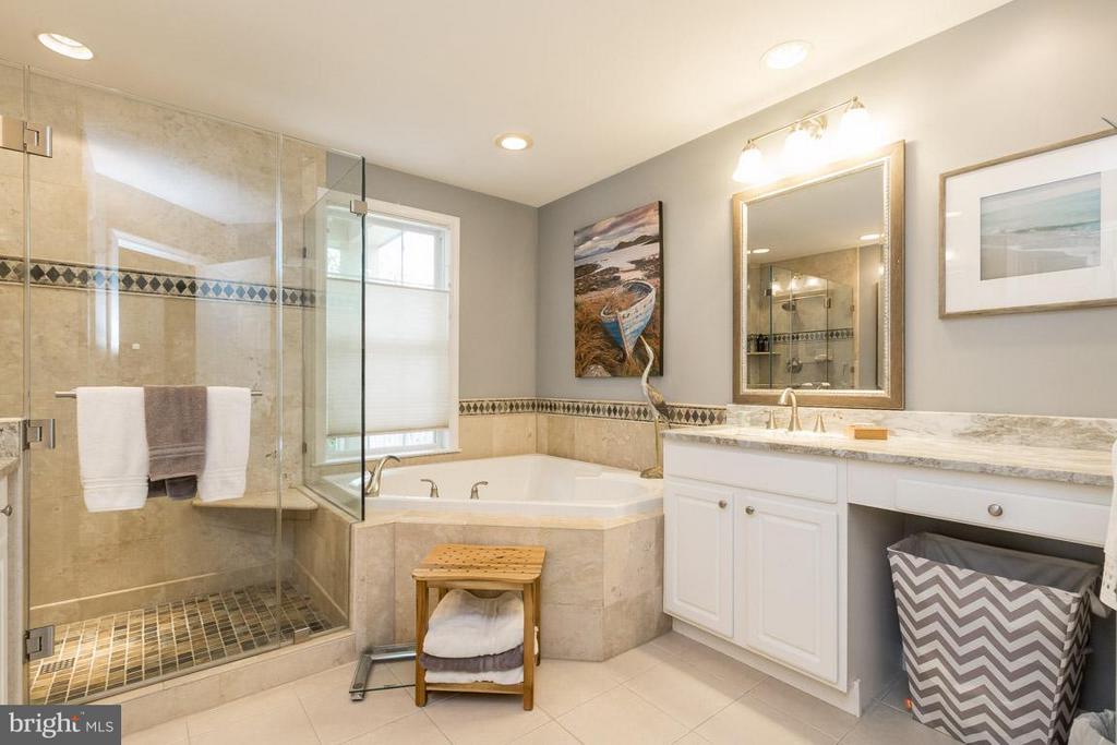 Remodeled Master Bath w/ Frameless Shower - 43416 WESTCHESTER SQ, LEESBURG