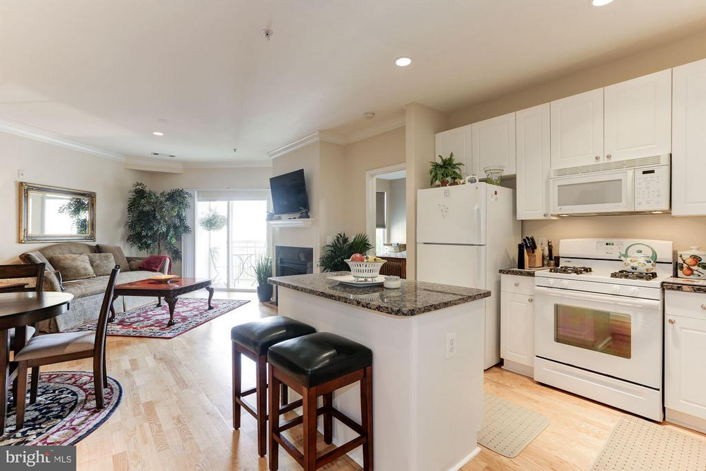 Open kitchen layout - 9490 VIRGINIA CENTER BLVD #343, VIENNA
