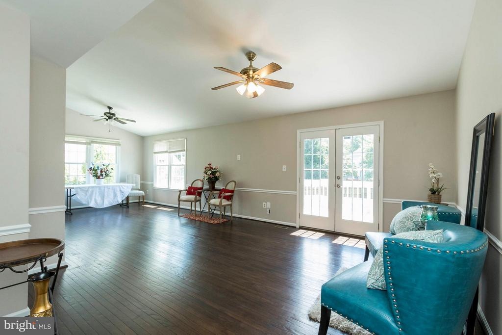 Living Room with French Doors - 8429 SILVERDALE CT, LORTON