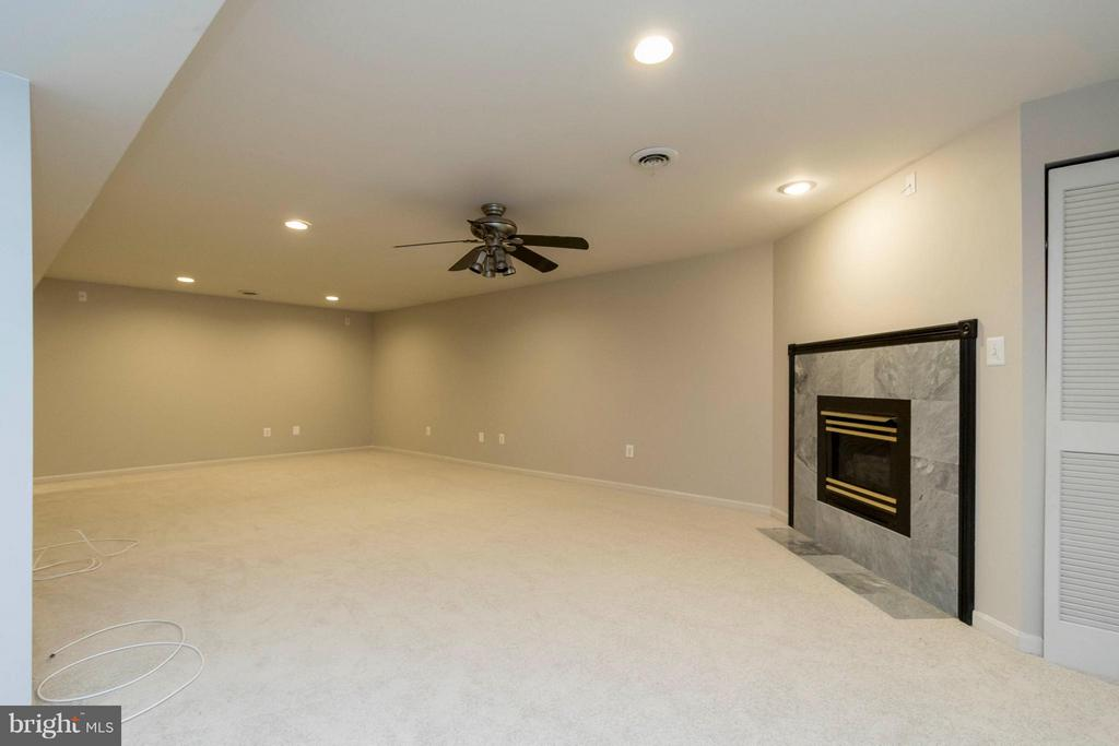Basement Family Room - 8429 SILVERDALE CT, LORTON