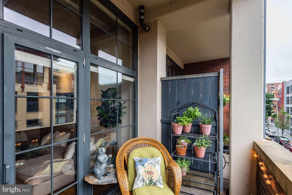 OUTDOOR BALCONY - MAKES A GREAT READING NOOK! - 2328 CHAMPLAIN ST NW #320, WASHINGTON
