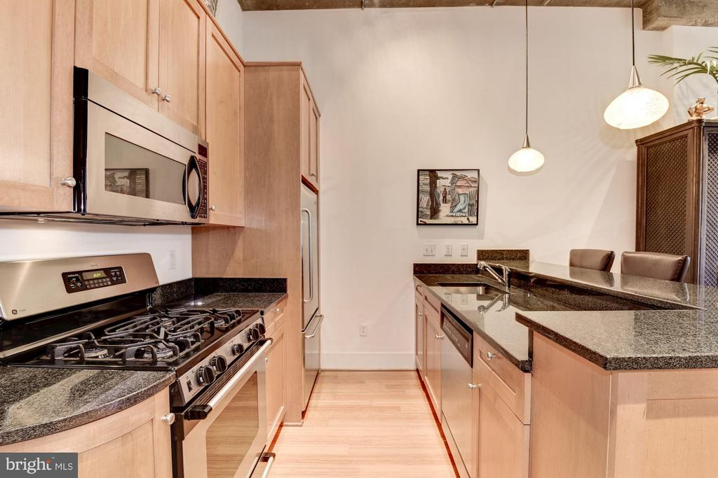 KITCHEN WITH GAS COOKING! - 2328 CHAMPLAIN ST NW #320, WASHINGTON