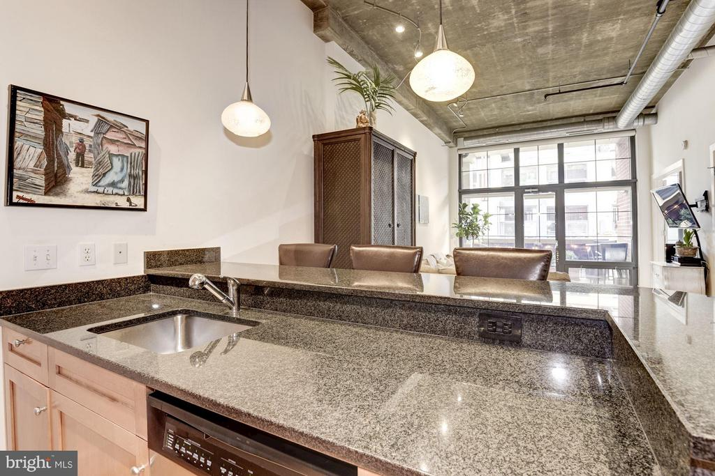 KITCHEN WITH TREMENDOUS AMT. OF COUNTER TOP SPACE! - 2328 CHAMPLAIN ST NW #320, WASHINGTON