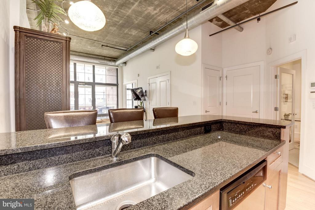 KITCHEN OPENS BEAUTIFULLY TO LIVING ROOM! - 2328 CHAMPLAIN ST NW #320, WASHINGTON