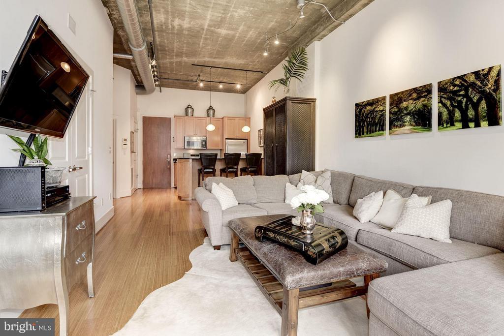 LIVING ROOM - OPEN - SPACIOUS - 2328 CHAMPLAIN ST NW #320, WASHINGTON