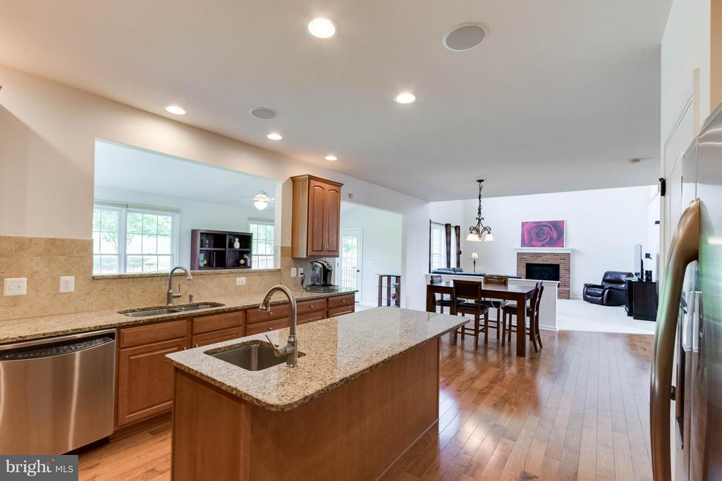 Granite counters and stainless steel appliances - 25287 JUSTICE DR, CHANTILLY