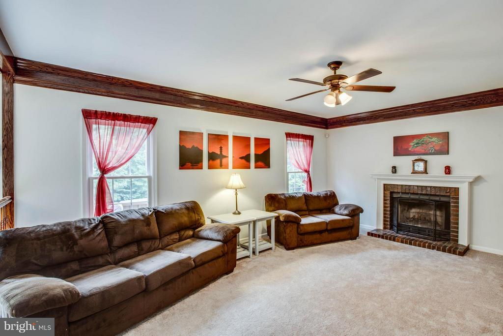 Lots of light with a cozy, wood-burning fireplace - 10 WILLOW GLEN CT, STAFFORD