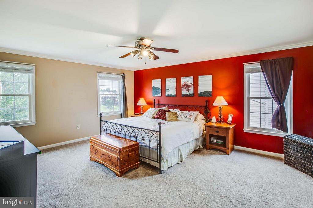 Master bedroom with an abundance of natural light - 10 WILLOW GLEN CT, STAFFORD