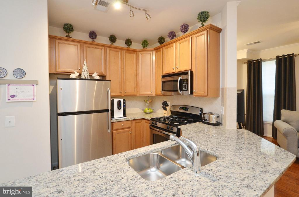 Kitchen with Granite Counters - 19442 DIAMOND LAKE DR #19442, LEESBURG