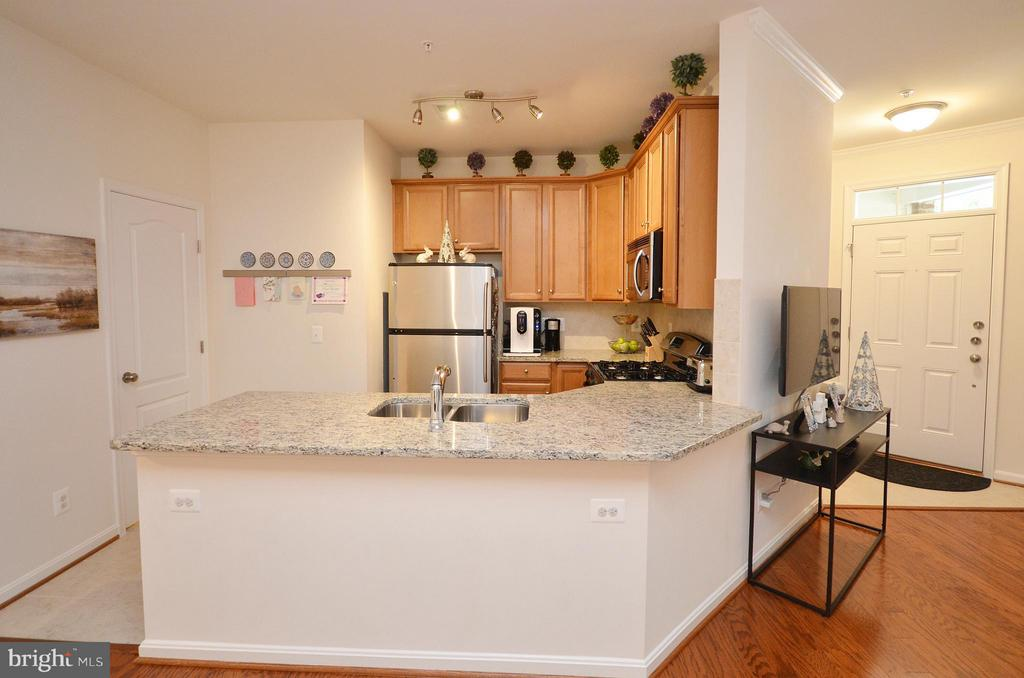 Kitchen with Breakfast Bar - 19442 DIAMOND LAKE DR #19442, LEESBURG