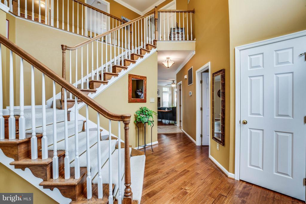 Curved stairs and hardwoods throughout main level - 4 KLINE CT, STAFFORD